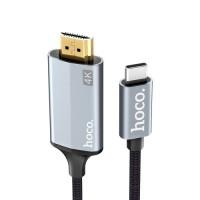 Type-C на HDMI кабель Hoco 4K UA13 1,8 m черный