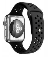 Ремешок силиконовый для Apple Watch 38/40мм (черный)