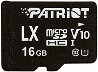 Карта памяти microSD Patriot LX Series 16Gb U-1 Class 10 / SD adapter