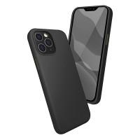 Чехол силиконовый Oucase для iPhone 12/12 Pro (черный)