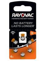 Батарейка для слуховых аппаратов Varta RAYOVAC ZA13 P13 PR48 6шт.
