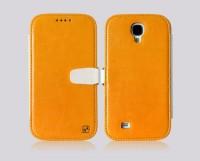 Чехол-книжка Hoco для Samsung Galaxy S4, оранжевая