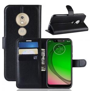 Чехол-книжка для Motorola Moto G7 Power (черный)