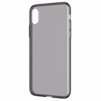 Силиконовый чехол Oucase для iPhone XS Max черно-прозрачный
