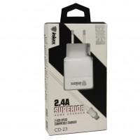 Сетевое зарядное устройство Inkax CD-23 2.4A 2USB / Lightning
