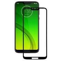 Защитное стекло для Motorola Moto G7 Power (черный)